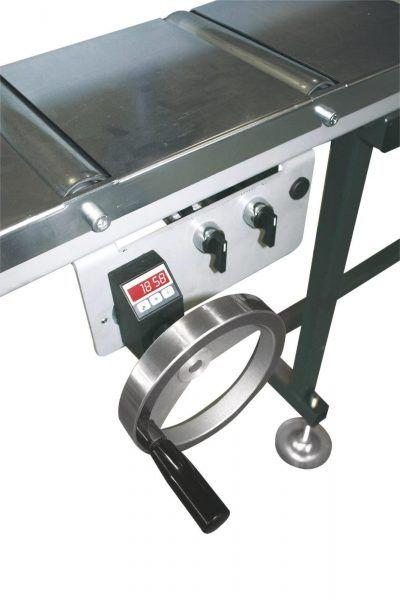 MRB Standard A Przenośnik rolkowy z elektronicznym systemem pomiarowym oraz mechanizmem pomiaru regulowany pokrętłem