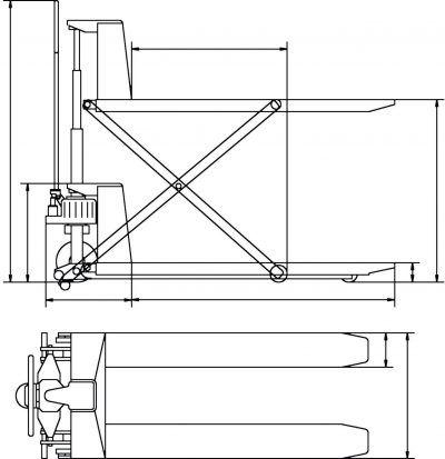 PHH 1001 Kombinowany nożycowy wózek paletowy
