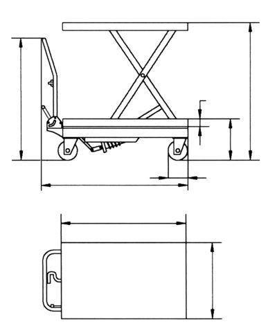 FHT 500 Jezdny stół podnośny nożycowy
