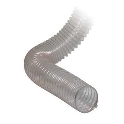 Wąż elastyczny poliuretanowy, przezroczysty z miedzianą spiralą