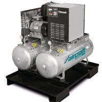 AIRPROFI Duo 853/2x100/10 K - Uniwersalna stacja sprężonego powietrza z 2 zbiornikami po 100 l