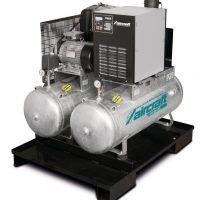 AIRPROFI Duo 853/2x100/10 KK - Uniwersalna stacja sprężonego powietrza z 2 zbiornikami po 100 l