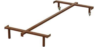 ŁKR-WV 900 Stelaż metalowy łóżka do materaca z ramą drewnianą WOLSEN