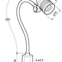 WBL3 Lampa maszynowa LED OPTIMUM o bezpiecznym napięciu