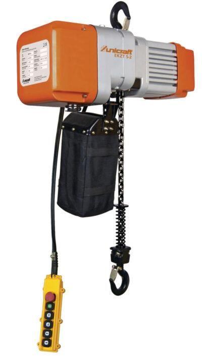 EKZT 20-1 Elektryczna wciągarka łańcuchowa z hakiem  do 2 t UNICRAFT