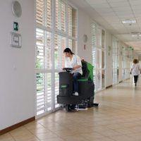 ASSM1000 Automat szorująco-zbierający z siedziskiem CLEANCRAFT