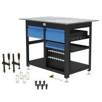 1200 x 800 x 850 mm Stół warsztatowy z 2 szufladami i zestawem narzędzi A SCHWEIßKRAFT