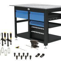 1200 x 800 x 850 mm Stół warsztatowy z 2 szufladami i zestawem narzędzi B SCHWEIßKRAFT