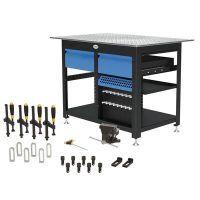 1200 x 800 x 850 mm Stół warsztatowy z 4 szufladami i zestawem narzędzi A SCHWEIßKRAFT