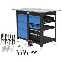 1200 x 800 x 850 mm Stół warsztatowy z 4 szufladami i zestawem narzędzi B SCHWEIßKRAFT