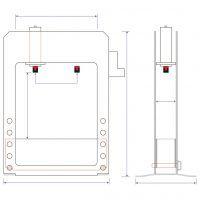 WPP 100 VH XW Warsztatowa prasa hydrauliczna z ruchomym cylindrem METALLKRAFT