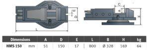 HMS 150 Imadło maszynowe OPTIMUM
